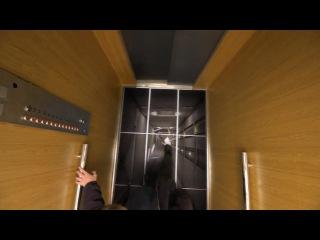 Страшный розыгрыш в лифте.